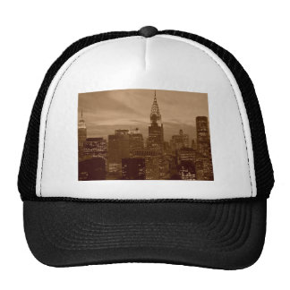 Sepia Tone New York City Mesh Hats