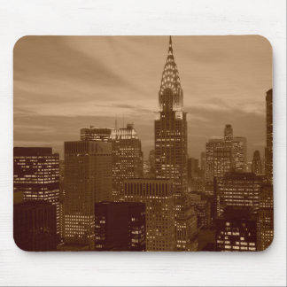 Sepia Tone New York City Mouse Pad