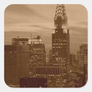 Sepia Tone New York City Stickers