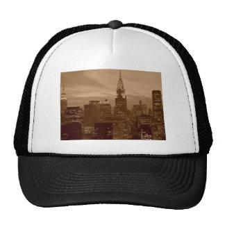 Sepia Tone New York City Trucker Hat