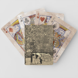 Sepia Tone  Photo of Horse Bicycle Playing Cards