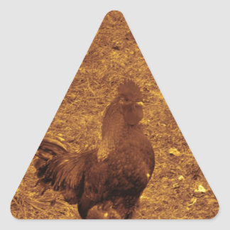 Sepia Tone Rooster facing right Stickers