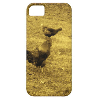 Sepia Tone Rooster in the Yard iPhone 5 Cases