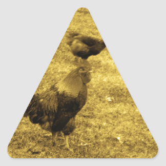 Sepia Tone Rooster in the Yard Sticker