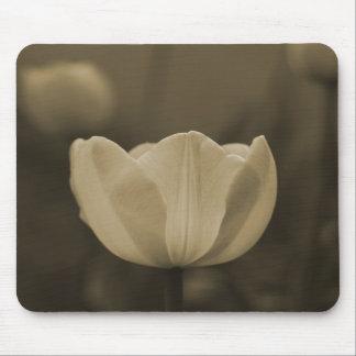 Sepia Tone Single Tulip Flower mousepad gift