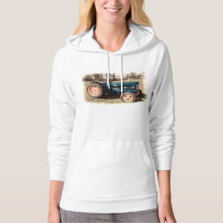 Sepia Toned Antique Vintage Tractor Hoodie