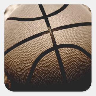 Sepia  Toned Basketball Square Sticker