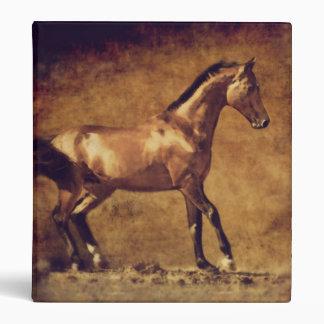 Sepia Toned Rustic Horse Art 3 Ring Binder