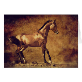 Sepia Toned Rustic Horse Art Card
