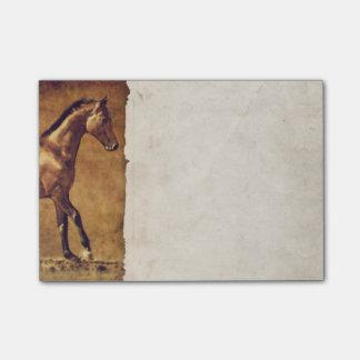 Sepia Toned Rustic Horse Art Post-it Notes