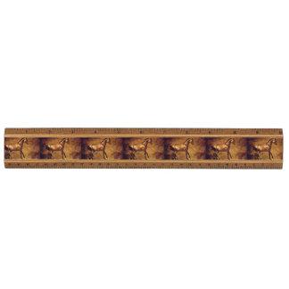 Sepia Toned Rustic Horse Art Ruler