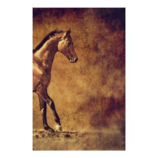 Sepia Toned Rustic Horse Art Stationery