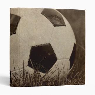 "Sepia Toned Soccer Ball 1"" Photo Album Binder"