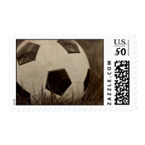 Sepia Toned Soccer Ball Postage