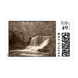 Sepia Toned Waterfall Postage