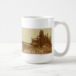 "Sepia-tono de la ""herencia"" de Bethlehem Steel Tazas De Café"