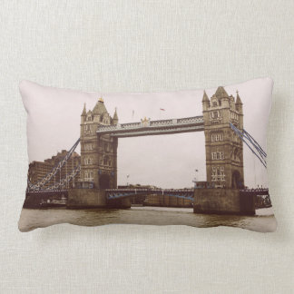 Sepia Tower Bridge, London, United Kingdom Lumbar Pillow