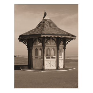 Sepia Traditional Shelter Bexhill on Sea England Postcard