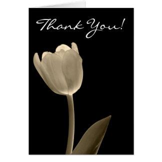 Sepia Tulip, Thank You! Card