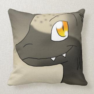Sepia/Umber Earth-Tone Microraptor Dinosaur Throw Pillows