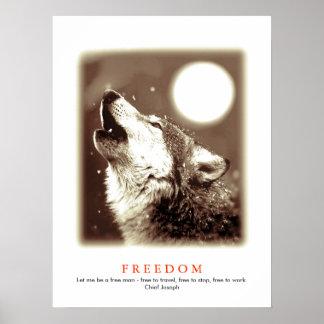 Sepia Unique Motivational Wolf Howls Print