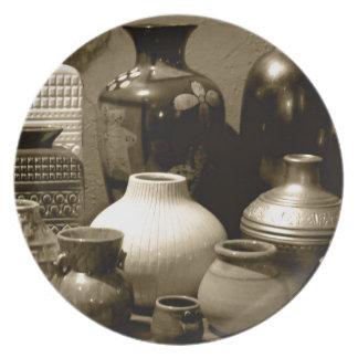Sepia Vases Dinner Plate
