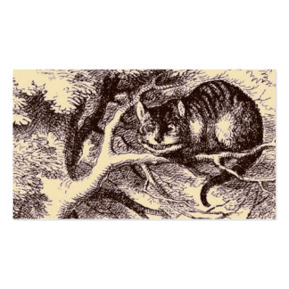Sepia Vintage Cheshire Cat Alice in Wonderland Double-Sided Standard Business Cards (Pack Of 100)