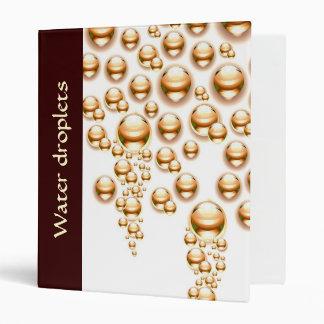 Sepia water droplets vinyl binders