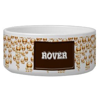 Sepia water droplets bowl