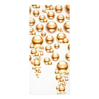 Sepia water droplets customized rack card