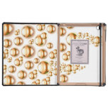 Sepia water droplets iPad cases