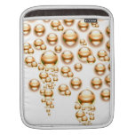 Sepia water droplets iPad sleeve
