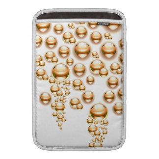 Sepia water droplets MacBook sleeves
