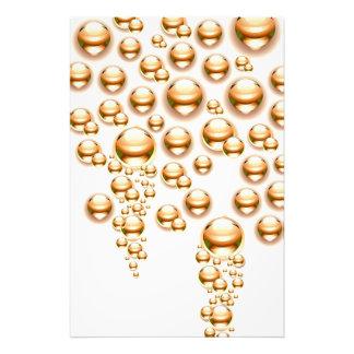 Sepia water droplets photo art
