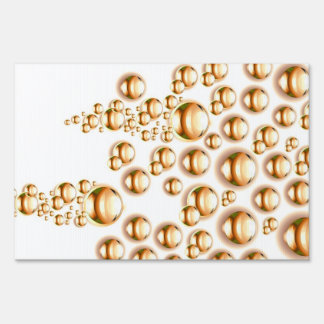 Sepia water droplets signs