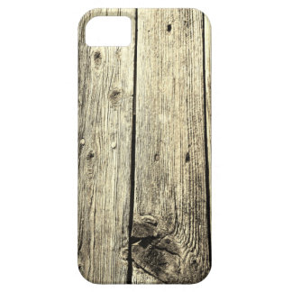 Sepia Weathered Wood Fence Texture iPhone SE/5/5s Case