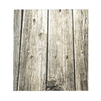 Sepia Weathered Wood Fence Texture Notepad