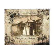 Sepia Wedding Decorative Wrapped Canvas