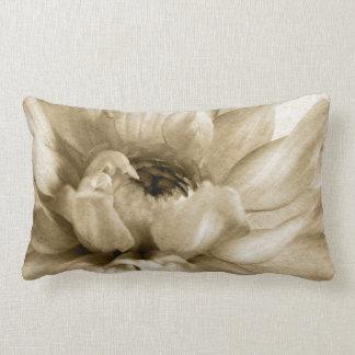 Sepia White Cream Dahlia Background Customized Throw Pillow