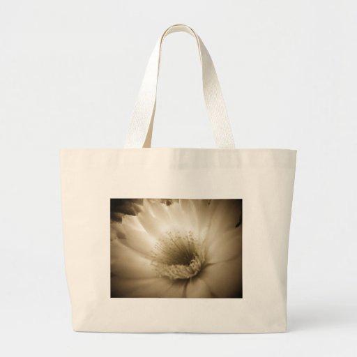 Sepia White Flower Bags