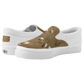 Sepia wildflowers Slip-On sneakers