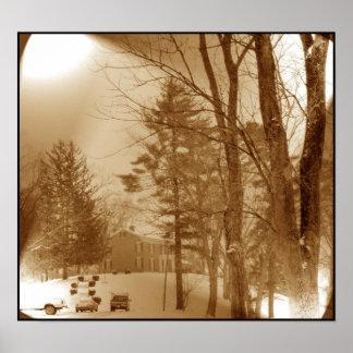 Sepia Winterscene Print