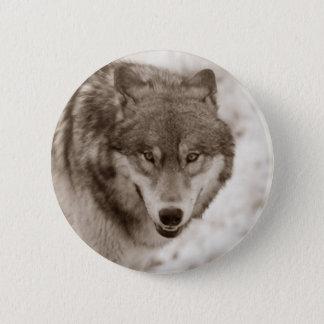 Sepia Wolf Button