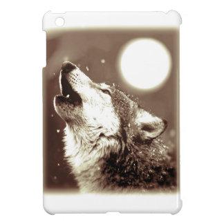 Sepia Wolf & Moon iPad Mini Cover