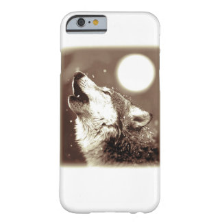 Sepia Wolf & Moon iPhone 6 Case