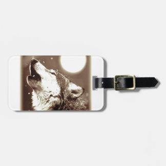 Sepia Wolf & Moon Luggage Tag
