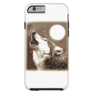 Sepia Wolf & Moon Tough iPhone 6 Case