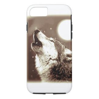 Sepia Wolf & Moon Tough iPhone 7 Case