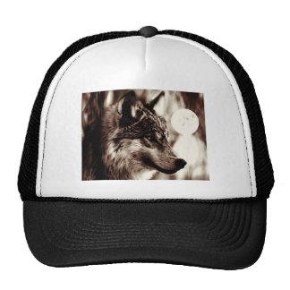 Sepia Wolf & Moon Trucker Hat