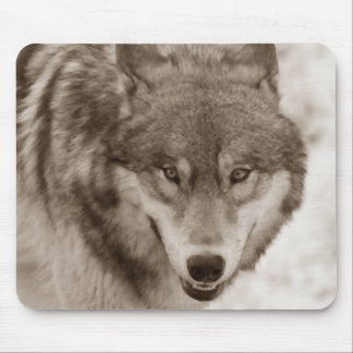 Sepia Wolf Mouse Pad